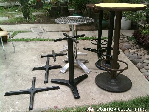 Fotos de bases para mesas de restaurant en tlalpan for Bases de mesas cromadas