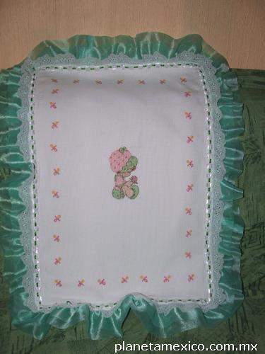 Cobijas de beb hechas a mano punto de cruz en tancitaro - Mantas de punto hechas a mano ...