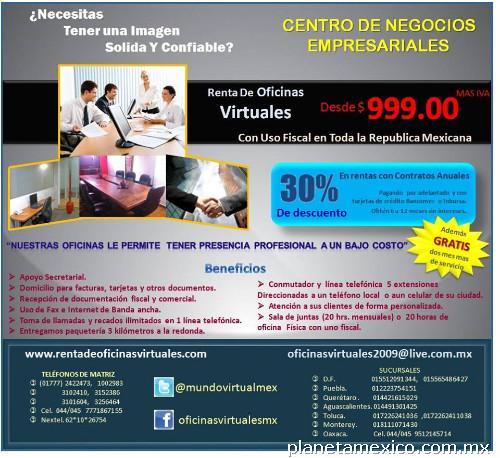 Fotos de renta de oficinas virtuales en el distrito for Oficinas virtuales mexico df