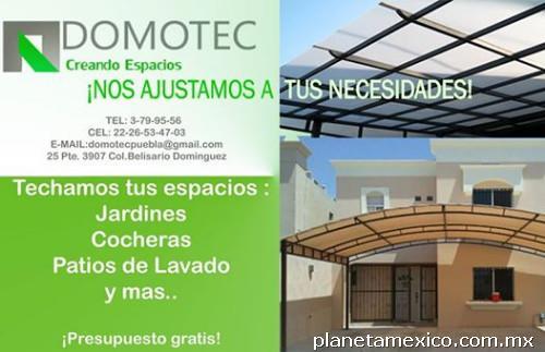 Domotec domos y techos de policarbonato en puebla tel fono for Techos de policarbonato para jardin