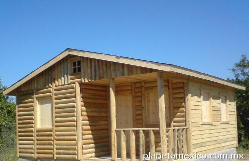 Construcci n de caba as y palapas en guadalupe tel fono - Cabanas de madera economicas ...