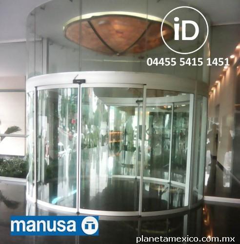 Puerta de cristal templado con sensor en cuauhtemoc Puertas automaticas df