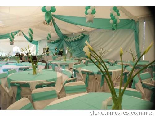 Carpas nezahualc yotl decoraciones para fiestas y eventos for Decoracion en jardin para 15 anos