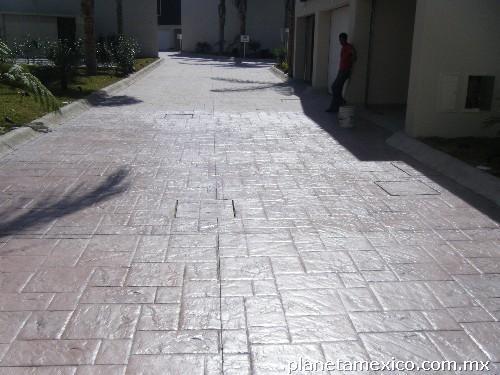Fotos de pisos en concreto estampado en guadalajara Cemento estampado fotos