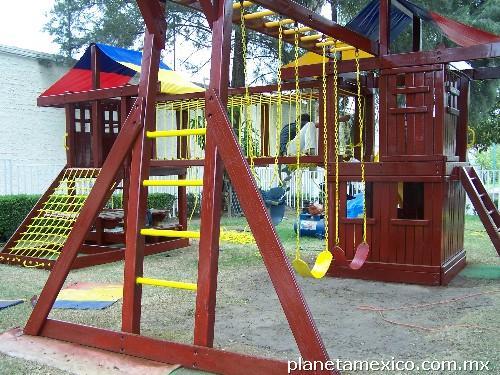 fotos de juegos infantiles de madera zapopan en guadalajara