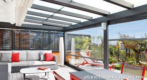 Fotos de domos techos terrazas toldos policarbonato en reynosa for Repuestos para toldos de terraza