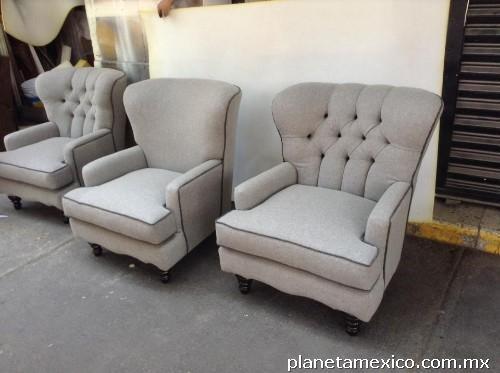 Retapizado de salas, fabricación de muebles sobre diseño con telas
