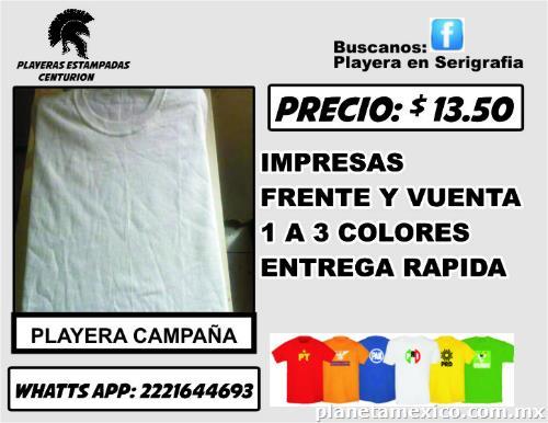 Venta Playera Campaña en Puebla  teléfono y dirección 7e56442f11d26