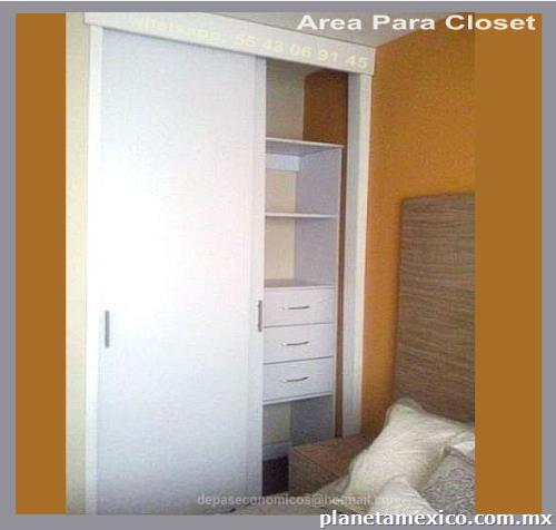 Fotos de departamento 48m2 2 rec maras rea para closet en for Closets estado de mexico