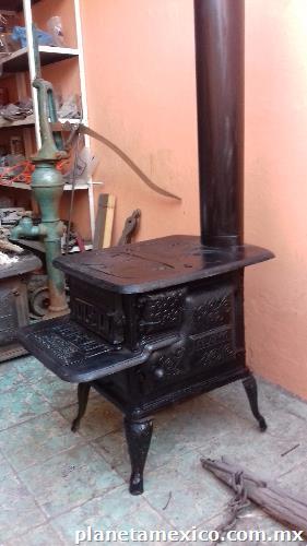 Estufa y chimenea de le a antiguas en guadalajara - Chimeneas en guadalajara ...