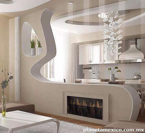 Fotos de tablaroca y dise os en muros y plafones en san for Disenos de interiores en tablaroca