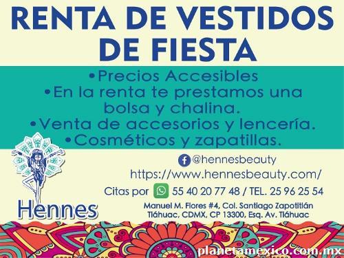Renta De Vestidos Dé Fiesta En Tláhuac Teléfono Horarios Y